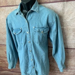 Dockers jean jacket button up men's large (a93)
